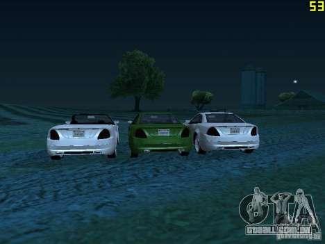 GTA IV Feltzer para GTA San Andreas traseira esquerda vista