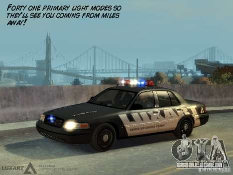 EMERGENCY LIGHTING SYSTEM V6 para GTA 4 por diante tela