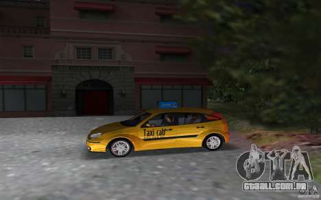 Ford Focus TAXI cab para GTA Vice City deixou vista