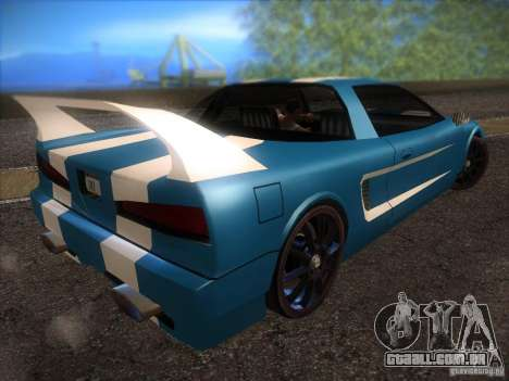 New Infernus para GTA San Andreas vista interior