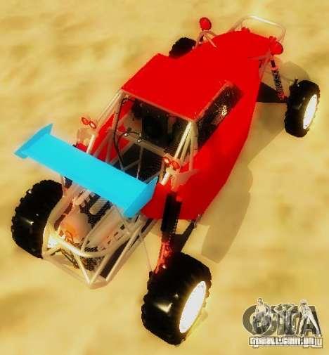 Buggy V8 4x4 para GTA San Andreas traseira esquerda vista