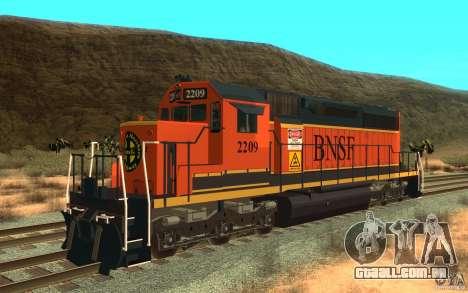 Locomotiva SD 40 da União do Pacífico BNSF para GTA San Andreas