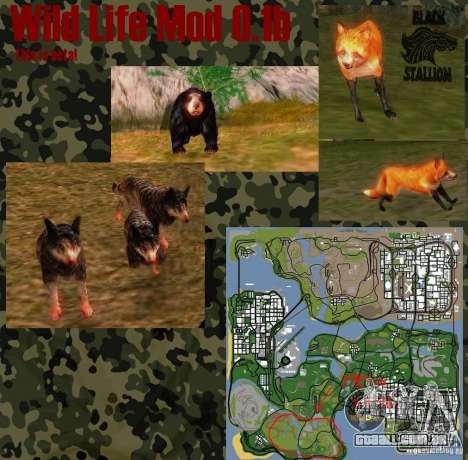 Vida selvagem Mod 0.1 (b) vida selvagem para GTA San Andreas
