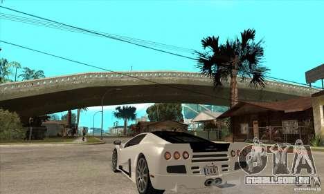 SSC Ultimate Aero FM3 version para GTA San Andreas traseira esquerda vista
