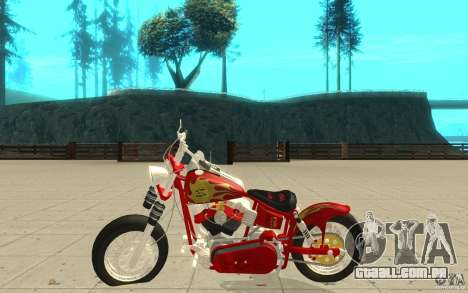 Orange County Chopper Sunshine para GTA San Andreas esquerda vista