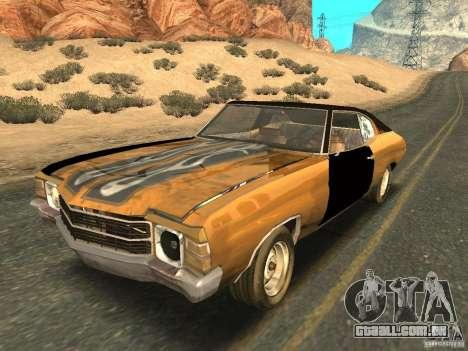 Chevrolet Chevelle Rustelle para GTA San Andreas vista interior
