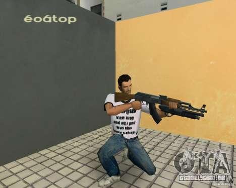 AK-47 com espingarda Underbarrel para GTA Vice City quinto tela