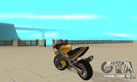 GTAIV NRG900 RR para GTA San Andreas traseira esquerda vista