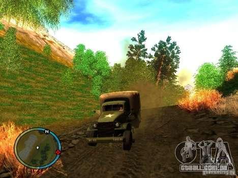 Millitary Truck from Mafia II para GTA San Andreas traseira esquerda vista