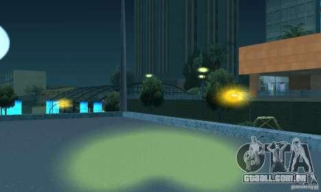 Faróis amarelos para GTA San Andreas quinto tela