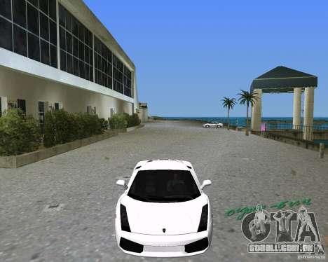 Lamborghini Gallardo para GTA Vice City vista traseira esquerda