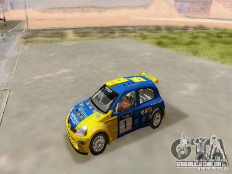 Renault Clio Super 1600 para GTA San Andreas vista direita