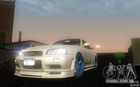 Nissan Skyline GT-R R34 M-spec Nur para GTA San Andreas esquerda vista