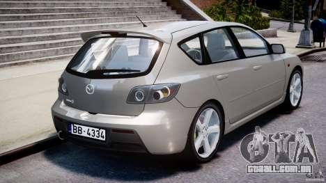 Mazda 3 2004 para GTA 4 traseira esquerda vista