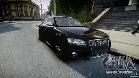 Audi S4 Unmarked [ELS] para GTA 4 vista de volta