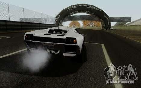 Lamborghini Diablo GTR TT Black Revel para GTA San Andreas traseira esquerda vista