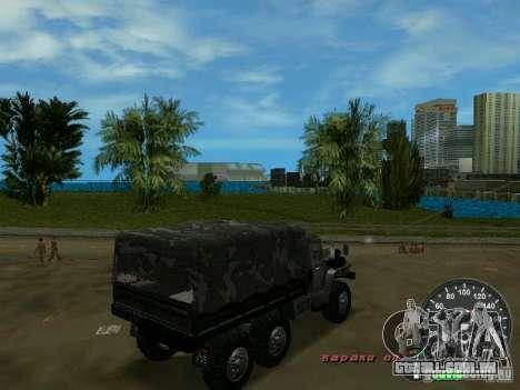 Ural 4320 militar para GTA Vice City vista traseira