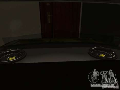 VAZ 2106 (ouro) para GTA San Andreas vista interior