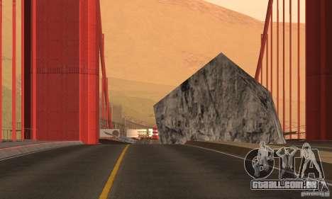 Ponte destruída em San Fierro para GTA San Andreas terceira tela