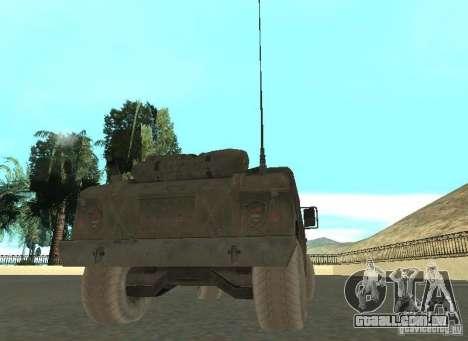 Hummer Cav 033 para GTA San Andreas traseira esquerda vista