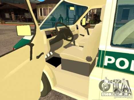 Volkswagen Transporter T4 Bosnian police para GTA San Andreas esquerda vista