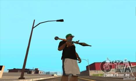 WEAPON BY SWORD para GTA San Andreas oitavo tela