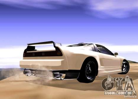 Acura NSX Tuned para GTA San Andreas traseira esquerda vista