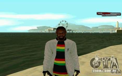 Jamaicano pele HD para GTA San Andreas