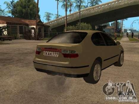 Seat Toledo 1.9 1999 para GTA San Andreas vista direita