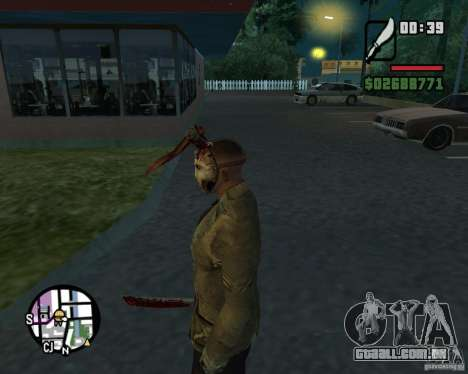 Jason Voorhees para GTA San Andreas terceira tela