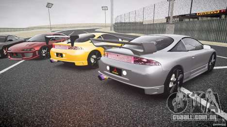 Mitsubishi Eclipse Tuning 1999 para GTA 4 vista superior