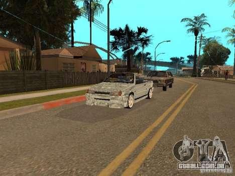 VAZ 2108 conversível para GTA San Andreas vista traseira
