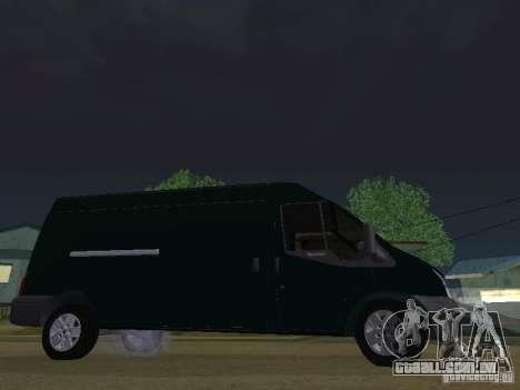 Ford Transit 350L para GTA San Andreas vista traseira