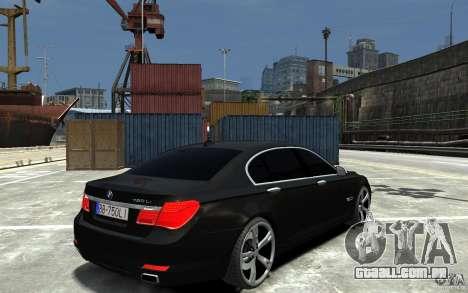 BMW 750 LI F01 v1.3 para GTA 4 vista direita
