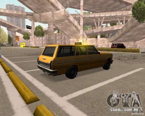 Perennial Cab para GTA San Andreas traseira esquerda vista