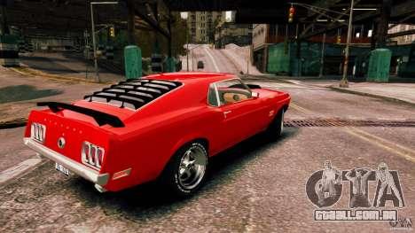 Ford Mustang BOSS 429 para GTA 4 esquerda vista