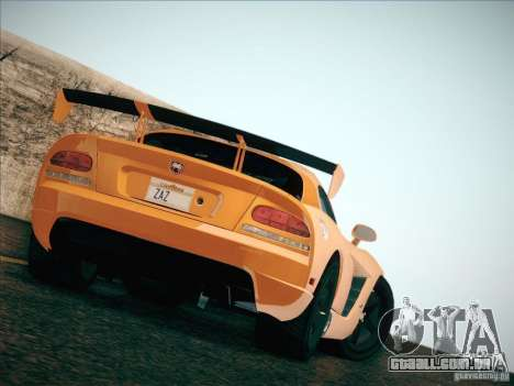 Dodge Viper SRT-10 ACR para vista lateral GTA San Andreas