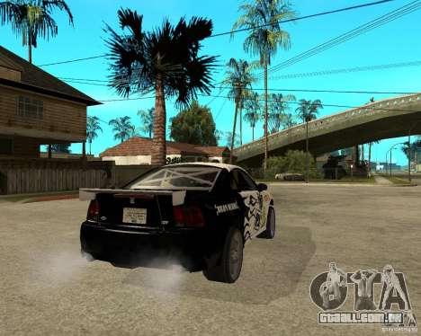 2003 Ford Mustang GT Street Drag para GTA San Andreas traseira esquerda vista