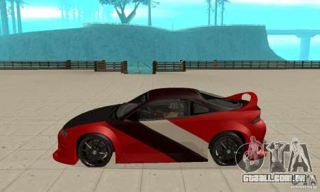 Mitsubishi Eclipse - Tuning para GTA San Andreas esquerda vista