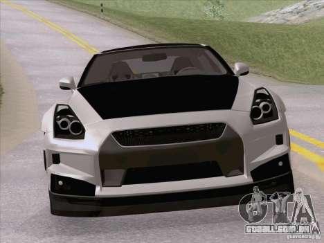 Nissan GTR Edited para GTA San Andreas vista direita