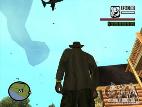 Apoio aéreo para GTA San Andreas por diante tela