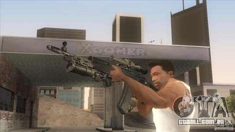 AK-47 v2 para GTA San Andreas por diante tela