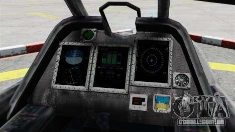 Helicóptero C.E.L.L. para GTA 4 vista de volta