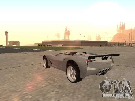 Chevrolet Corvette C7 Spyder para GTA San Andreas vista direita