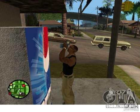 Máquinas de venda automática de Pepsi e planta para GTA San Andreas