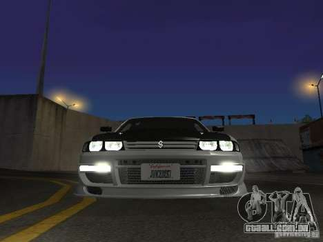 Nissan Skyline R33 SGM para GTA San Andreas vista interior
