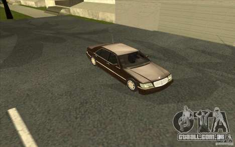 Mercedes-Benz S600 para GTA San Andreas vista superior