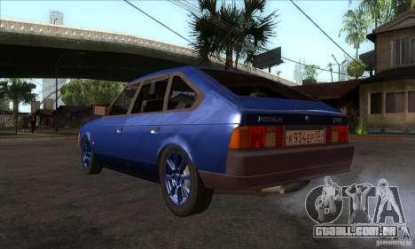 2141 AZLK pessoas edição para GTA San Andreas traseira esquerda vista