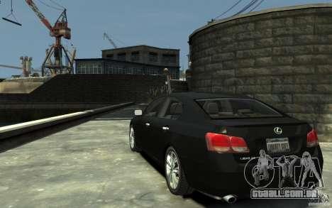 Lexus GS450 2006 para GTA 4 traseira esquerda vista
