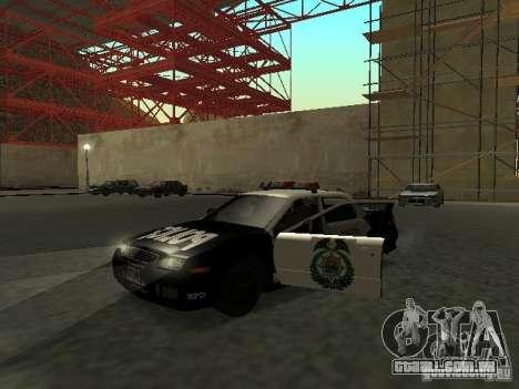 Police Civic Cruiser NFS MW para GTA San Andreas esquerda vista